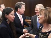 Yoani Sánchez pide cambios para Cuba en el Congreso de EEUU a los fans de las guerras y las bombas. Tomada de Cambios en Cuba
