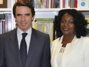 """José María Aznar, uno de los personajes que junto a Esperanza Aguirre, acompaña la """"lucha"""" de Berta Soler.  Foto: Cubainformación"""