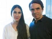 Yoani Sánchez junto a José María Aznar. Foto: ABC