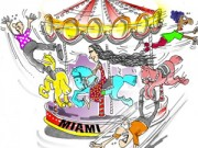 """El Carrusel de la """"disidencia"""" cubana, todos los personajes se montan por un ratico. Tomada de Progreso Semanal"""