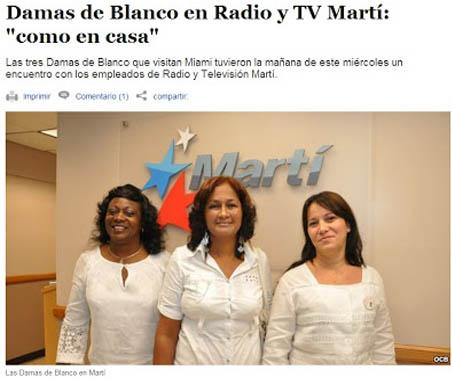 ¿Pedirían las Damas de Blanco la extradición a Cuba de Luis Posada Carriles para que sea juzgado por sus crímenes? ¿Rechazarían públicamente los actos terroristas de Jorge Mas Canosa y de la Fundación Nacional Cubano Americana? Foto: Capítulo cubano